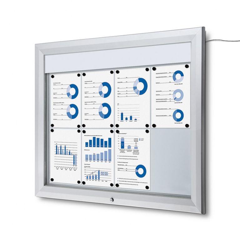 Schaukasten T-Line LED 8 x DIN A4