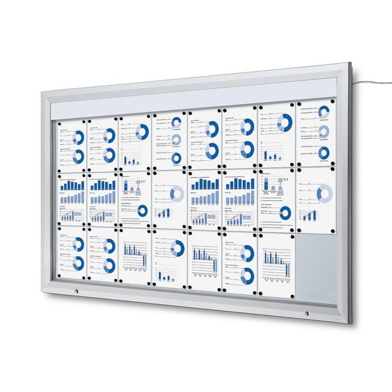 Schaukasten T-Line LED 24 x DIN A4