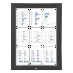 Schaukasten T-Line 9 x DIN A4 schwarz