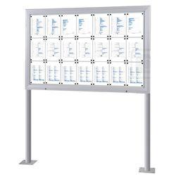 Schaukasten T-Line 21 x DIN A4 mit Ständern (Bodenmontage) – Bild 1