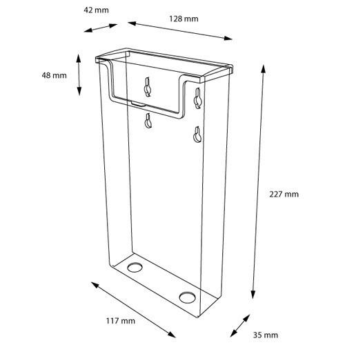 Wandprospekthalter mit Deckel (außen) DIN lang OD110 (20) - Bild 2 (vergrößert)