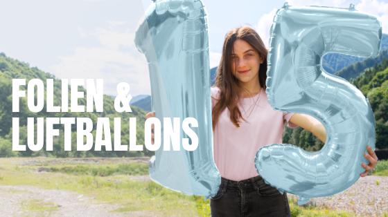 Helium Gas und Folienballons
