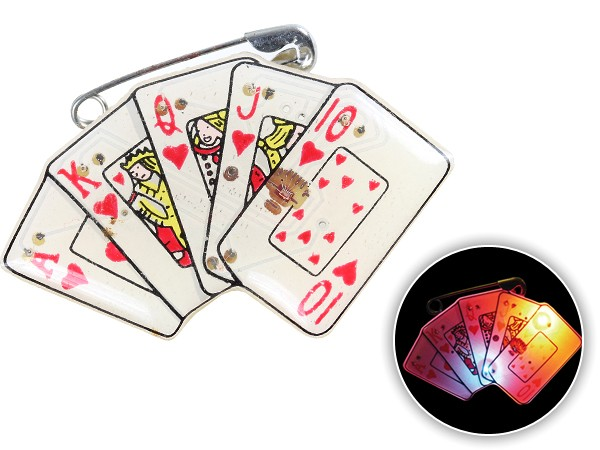 Blinki Anstecker Blinky Brosche Pin Button Karten 77