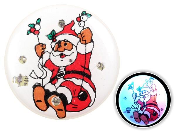 Blinki Anstecker Blinky Brosche Pin Button Weihnachtsmann Schaukel 52