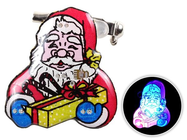 Blinki Anstecker Blinky Brosche Pin Button Weihnachtsmann Geschenk 53