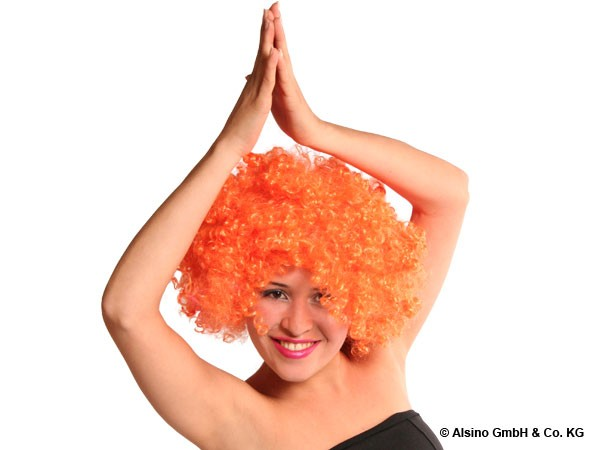 XXL Afro Perücke in orange