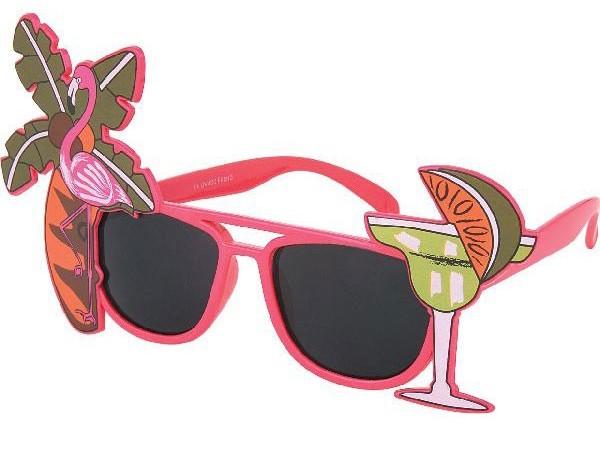 Sonnenbrille Funbrille Partybrille Cocktail pink 02
