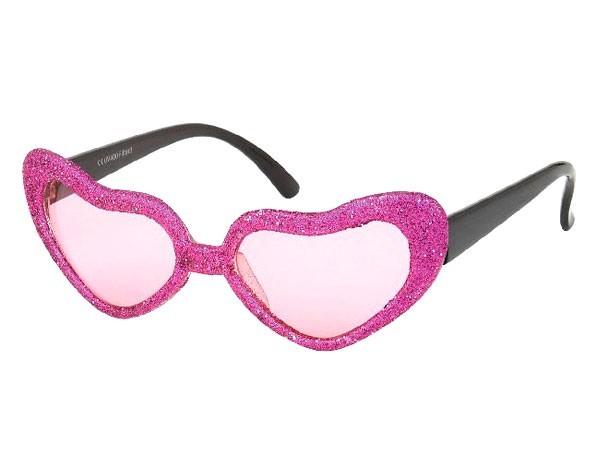 Sonnenbrille Funbrille Partybrille Herz pink 011