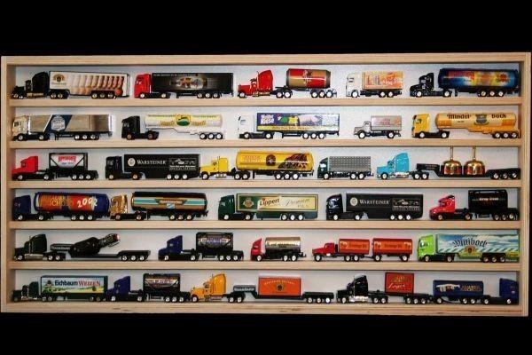 V50 Vitrine Spur N Setzkasten Regal ca 32 Truck 100 cm lang