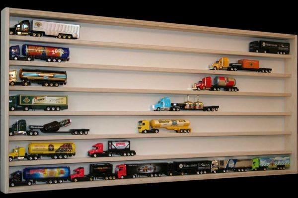 V28 Vitrine Spur N Setzkasten Regal f. Truck Modellautos H0 115 cm