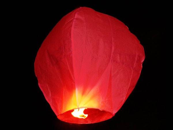 Himmelslaternen Skylaternen 20 Stück in rot – Bild 2