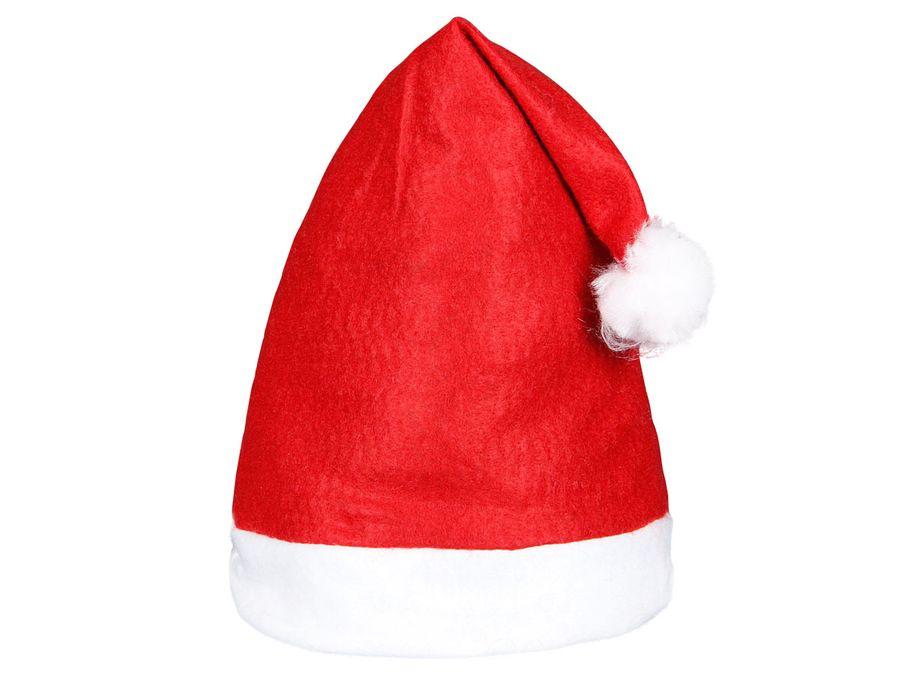 Weihnachtsmütze rot mit Bommel WM-32
