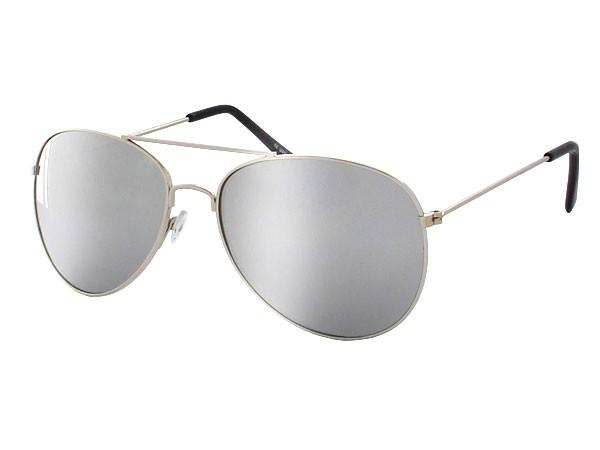 Pilotenbrille in silber