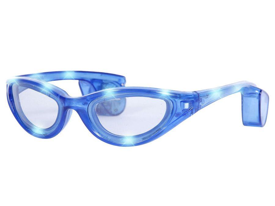 Blinkende LED blink Brille blau Blinky Eyewear Karneval