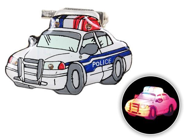 Blinki Anstecker Blinky Brosche Pin Button Polizeiauto 199
