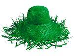 Chapeau de paille jardinier Vert (SH-25), Chapeau Filagarchado Paille Vagabond en raphia tressé Paille Vagabond accéssoire d'été plage soleil déguisement  vert SH-25