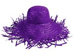 Trendy Strawhat Beachhat Partyhat purple SH-28
