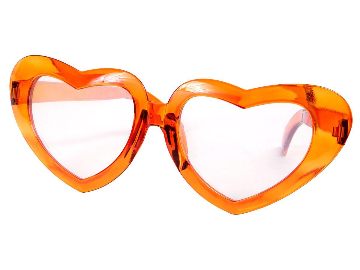 XXL super große Glitzer Herzen-Funbrille Spaßbrille 24