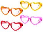 XXL Funny Heart Sunglasses (F-024) | Lolita | Jumbo | One Size | Adults | Fun | Party | Carnival