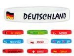 Bracelet en silicone effigie plusieurs pays