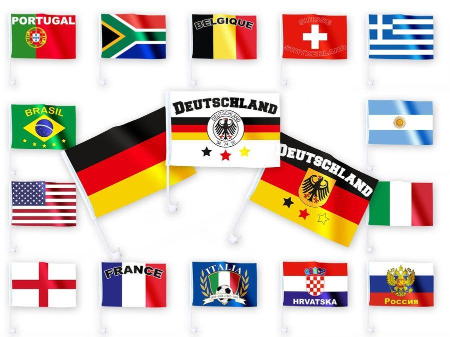 Länderflagge für das Auto – Bild 1