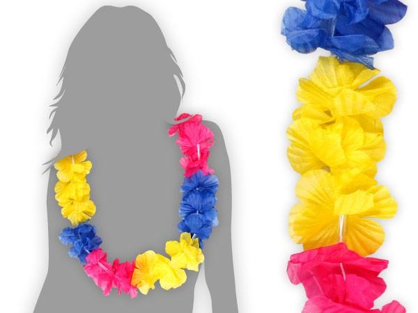 Hawaiiketten Blumenketten Hula Hawaii Kette mehrfarbig – Bild 4