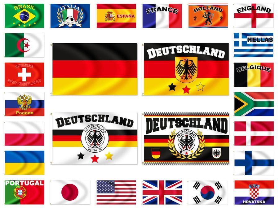 Länder Flaggen WM Fahnen WM-Fanartikel Maße 90x150 cm