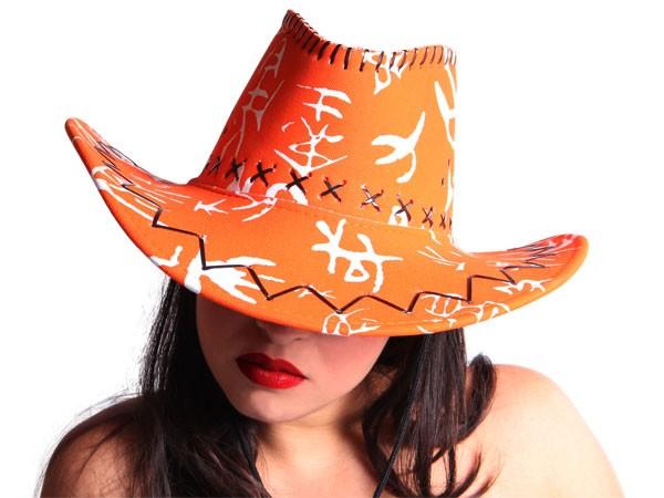COWBOYHUT WESTERNHUT AUSTRALIEN TEXAS HUT orange weiß 36 – Bild 1