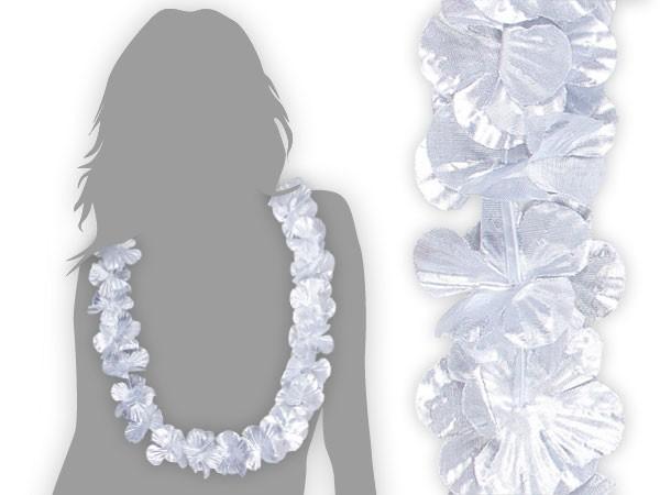 Hawaiiketten Blumenketten glänzend silber, gold, lila, multicolour – Bild 2