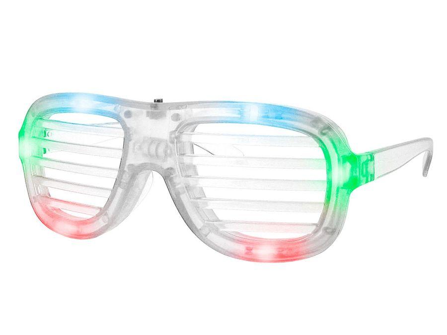 Blinkende LED Atzenbrille Shutter Shades ohne Glas viele Farben – Bild 6