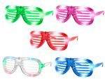 Funny LED Glasses (V-820)  | Shutter Shade | One Size | Adults | Fun | Party | Carnival