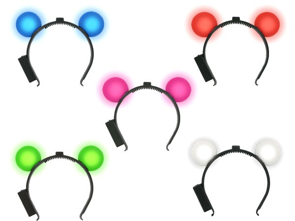 Maus Ohren Mouseohren Haarreif blinkend alle Farben