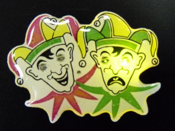Blinki Anstecker Blinky Brosche Pin Button Joker Clowns 207