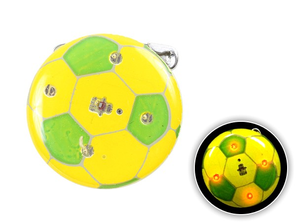 Blinki Anstecker Blinky Brosche Pin Button Fußball gelb grün 210