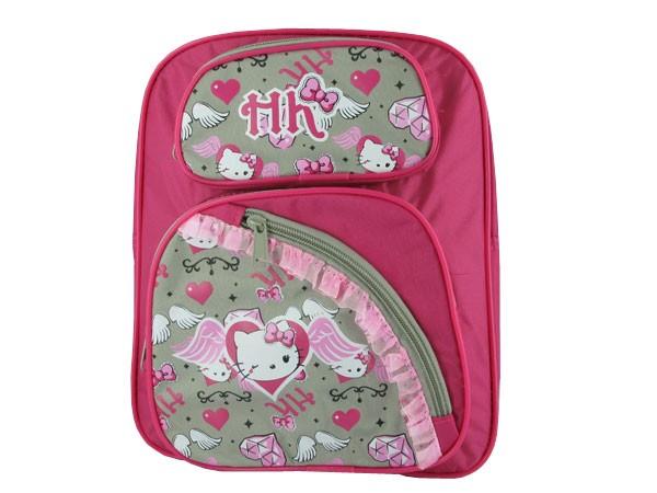 Hello Kitty Rucksack pink mit Fahrradbefestigung 2