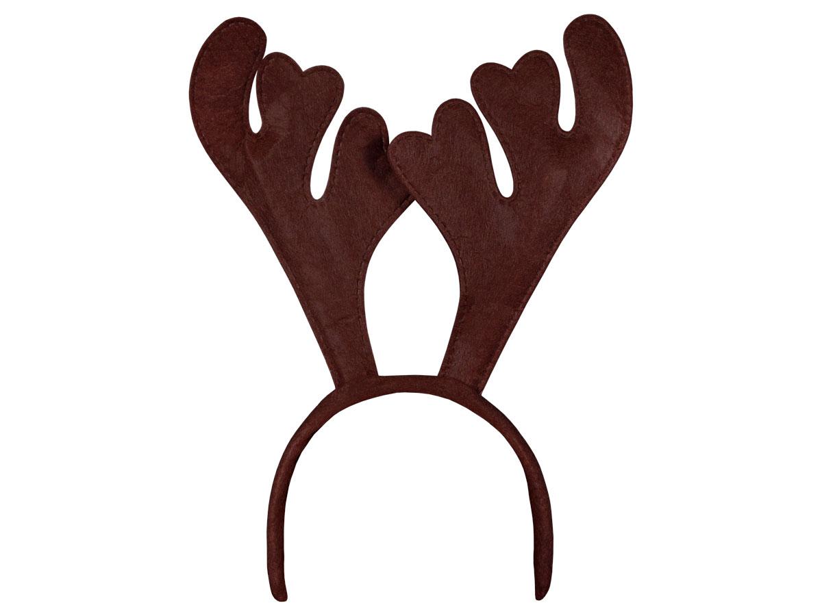 Serre tête avec bois de renne cerf marron (wm-19a)