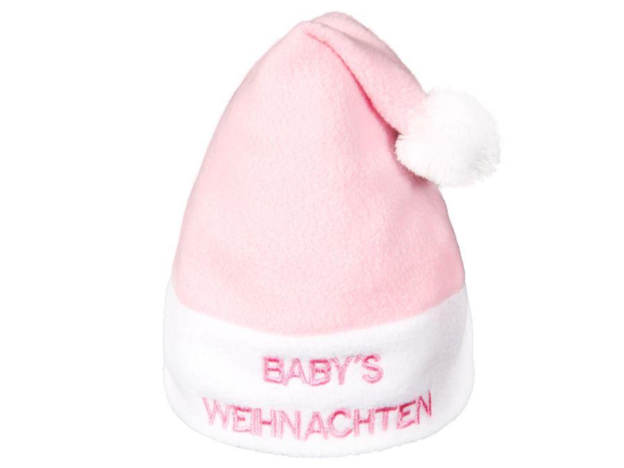 """Kuschelige Weihnachtsmütze """"Babys Weihnachten"""" Modell: WM-93"""