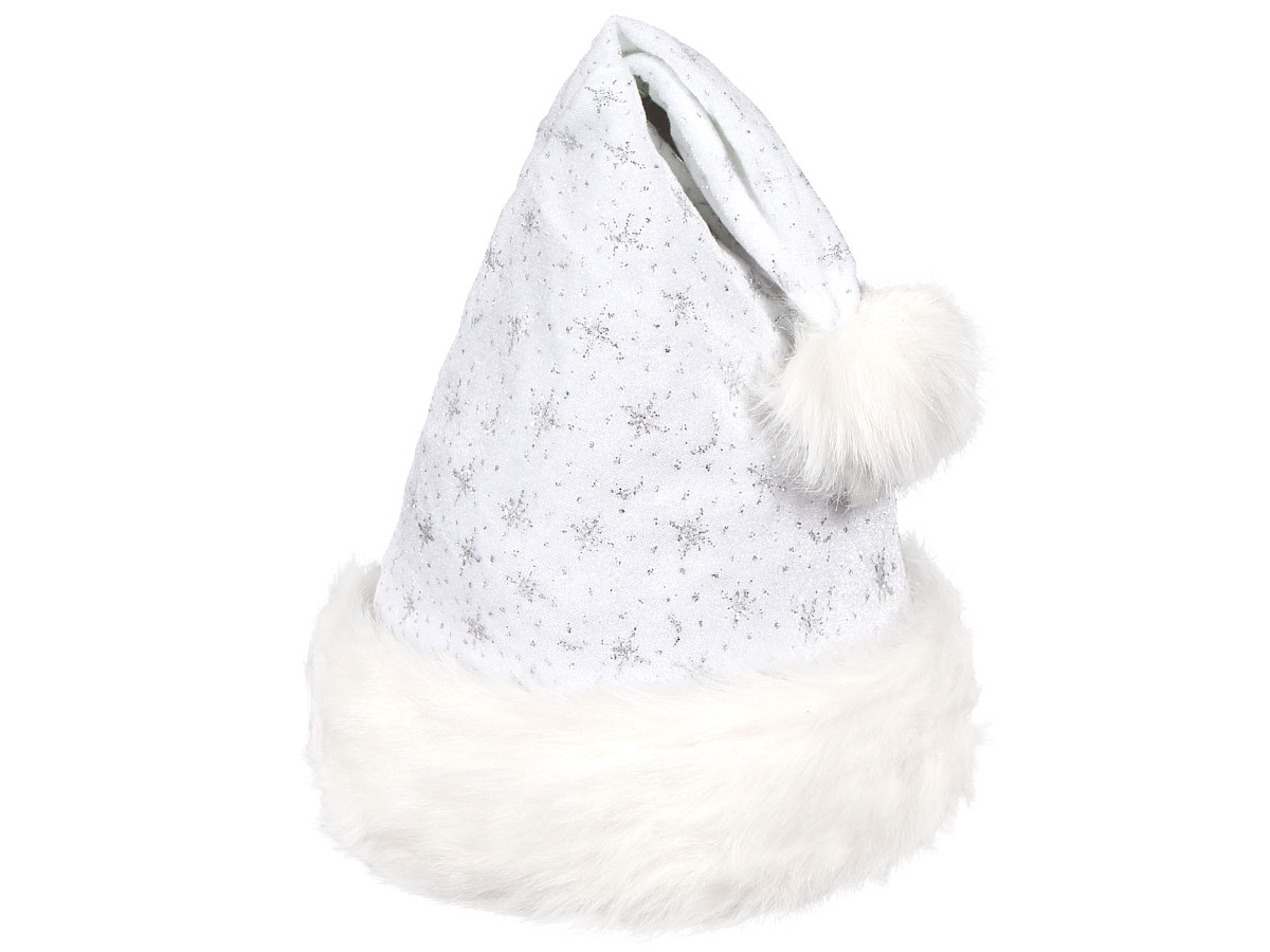 6b2840be532ee Christmas Santa Claus Hat white with fur edge and glitter 05 Trends ...
