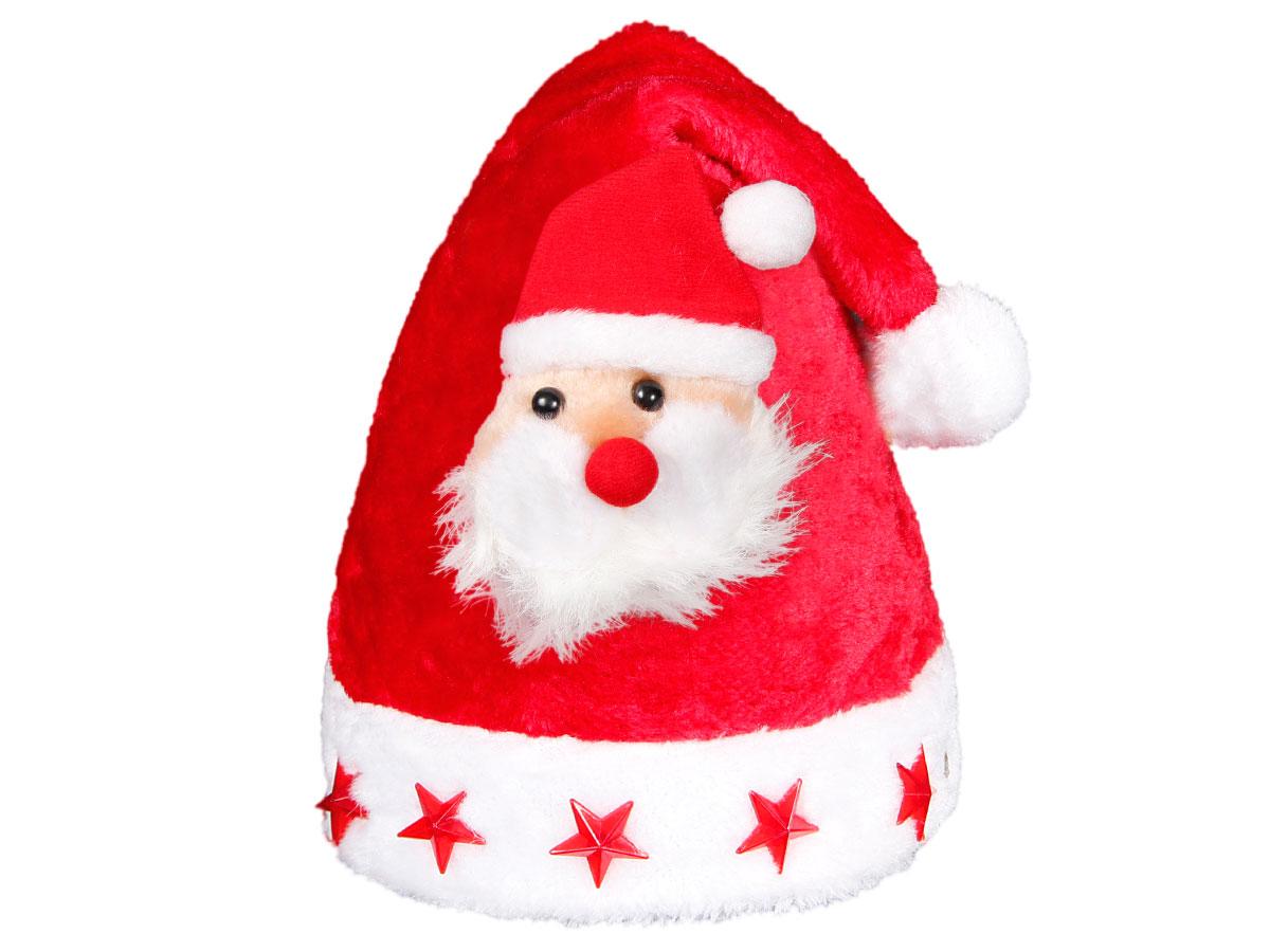 Weihnachtsmütze mit Blinksternen und Weihnachtsmann wm-46a