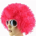Afro Wig XXL BIG Set of 10 13072 Funky Pink for Carnival Theme Partys Halloween Woman Man for Adults from Alsino