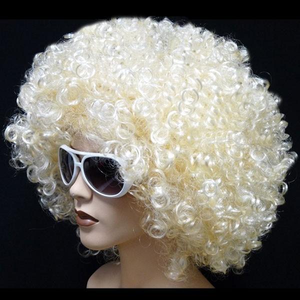 2 Stück Blonde Mega Funky Party XXL Afro Perücke – Bild 2