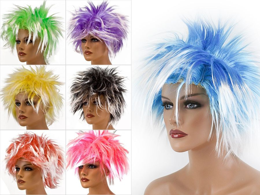 Flippige Karnevalsperücke mit strubbeliger Frisur