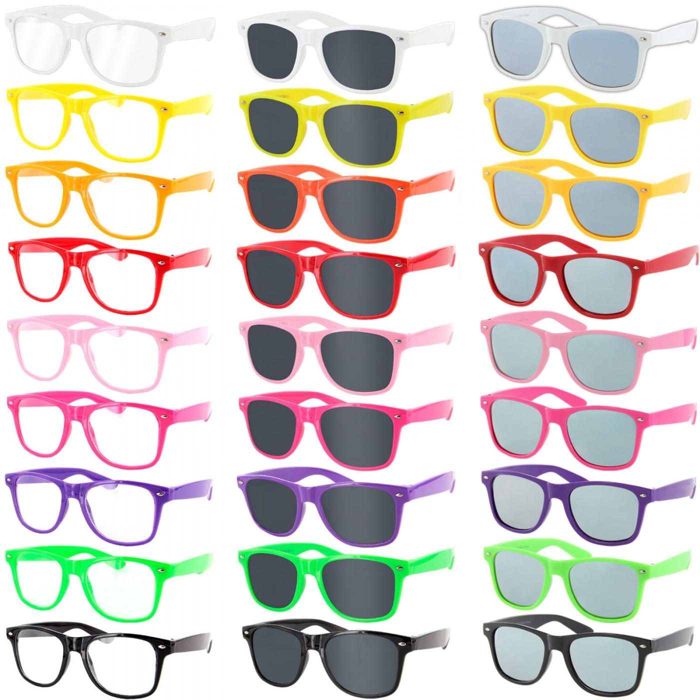 Retro Nerdbrille in verschiedenen Farben