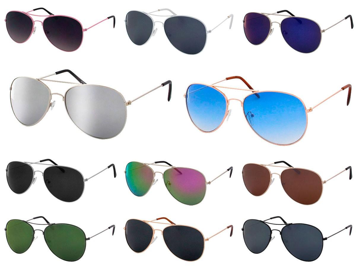 Damen Herren Sonnenbrille Pilotenbrille Fliegerbrille Pornobrille Verspiegelt