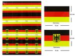 Lot de 32 stickers drapeau allemand