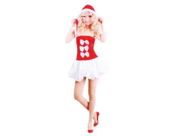 Weihnachtskleid Weihnachtsrock Nikki Santa Damen Weihnachtskostüm für Frauen wk-105
