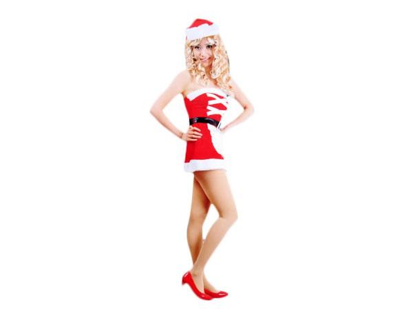 Nikki Santa Damen Weihnachtskleid Weihnachtskostüm mit Cape und Rock für Frauen  – Bild 2