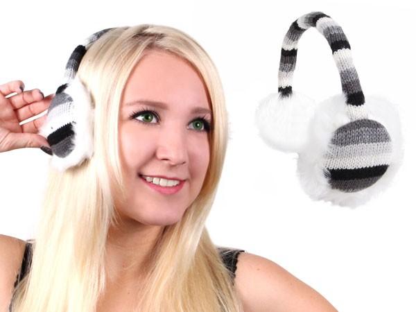 Ohrwärmer gestrickt Ohrenschützer Plüsch Earmuffs