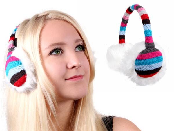 Ohrwärmer gestrickt Ohrenschützer Plüsch Earmuffs – Bild 6