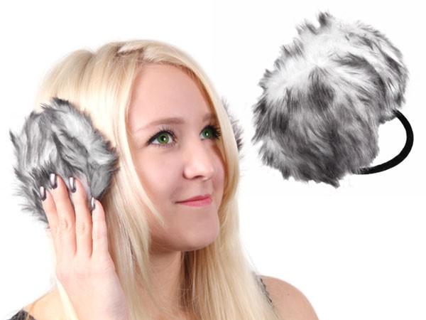 Ohrwärmer Kunstfell Ohrenschützer mit Nackenbügel Earmuffs